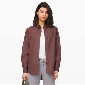 Lululemon Full Day Ahead Flannel Shirt Size 8